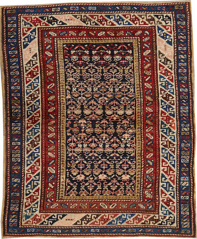 A Kazak rug Caucasus size approximately 4ft. 2in. x 5ft. 2in.
