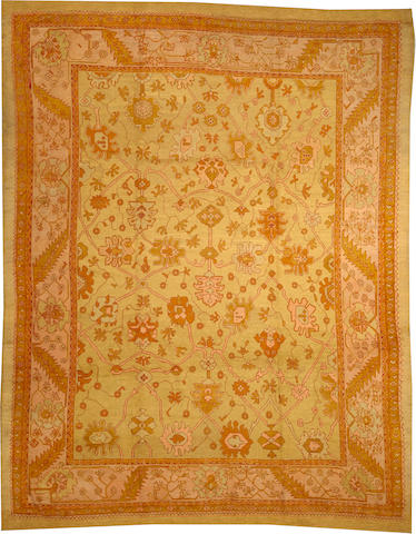 An Oushak carpet West Anatolia size approximately 10ft. 9in. x 13ft. 4in.