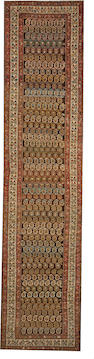 A Malayer runner Central Persia size approximately 3ft. 6in. x 15ft. 5in.