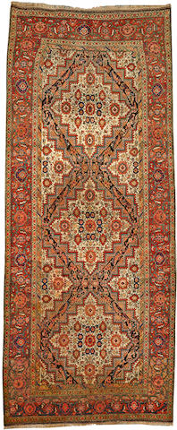 A Fereghan long carpet Central Persia size approximately 5ft. 6in. x 13ft. 1in.