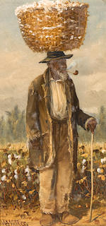 William Aiken Walker (American, 1838-1921) Sharecroppers: A Pair of Works each, 8 1/4 x 4in