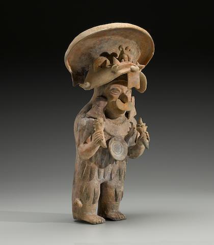 Jama-Coaque Standing Priest, ca. 400 B.C. - A.D. 500