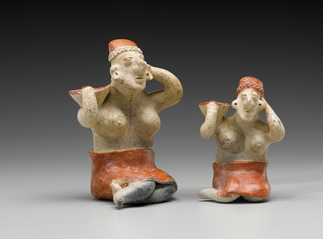 Two Similar Jalisco Female Figures, Protoclassic, ca. 100 B.C. - A.D. 250