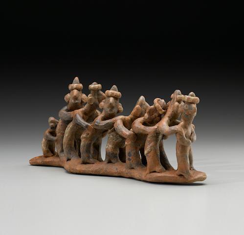 Rare Nayarit Processional Group, Protoclassic, ca. 100 B.C. - A.D. 250