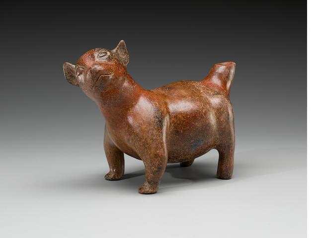 Colima Standing Dog, Protoclassic, ca. 100 B.C. - A.D. 250