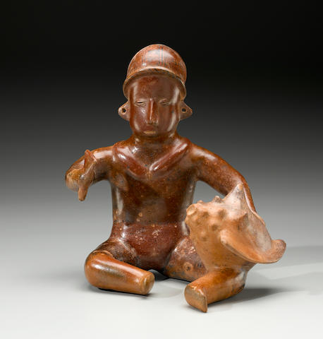 Colima Seated Musician, Comala Style, Protoclassic, ca. 100 B.C. - A.D. 250