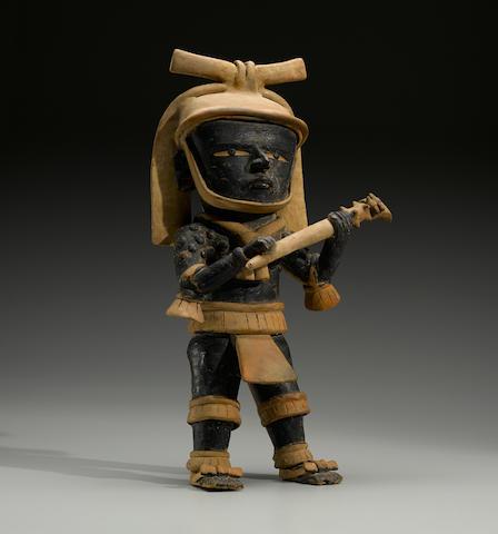 Large Veracruz Standing Warrior, Remojadas, Middle Classic, ca. A.D. 400 - 700