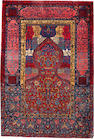 A Manchester Kashan rug Central Persia size approximately 3ft. 4in. x 4ft. 11in.