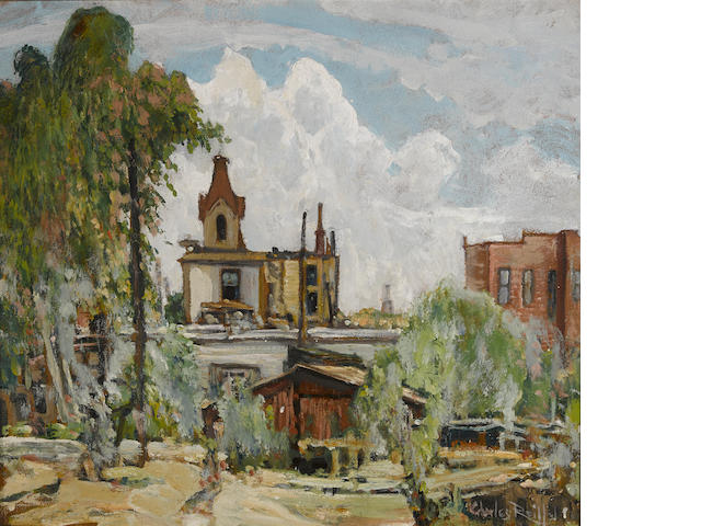 Charles Reiffel (American, 1862-1942) In Old National City 17 3/4 x 19 3/4in