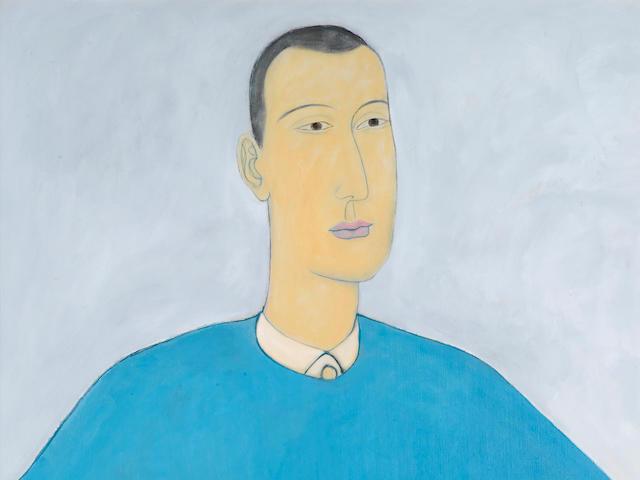 Chiu Ya Tsai (Qiu Yacai, Chinese, 1949-2013) Young Man Akimbo