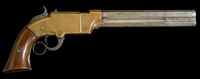 A Volcanic Repeating Arms Company lever action navy pistol