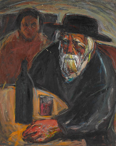 SEWERYN SZEREJER (Polish, 1899-1947) Kidosh signed (upper left)