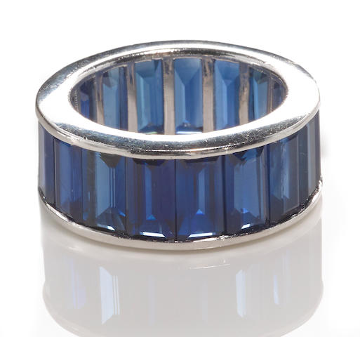 A sapphire eternity band