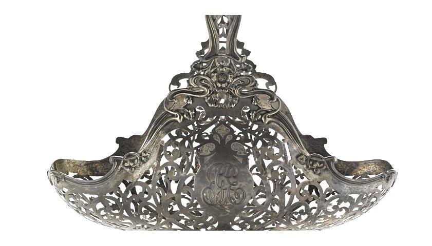An American sterling silver Art Nouveau pierced basket by Reed & Barton, Taunton, MA, circa 1900