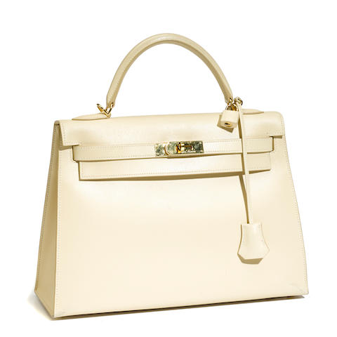 An Hermès cream leather Kelly handbag