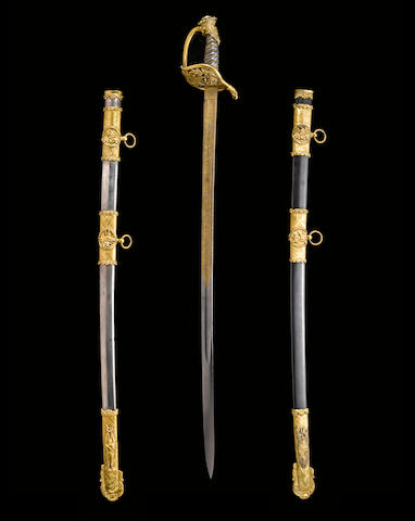 A fine gilt and silver-mounted Civil War presentation sword