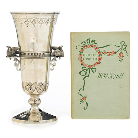 An American  sterling silver  footed vase by William Gale Jr., New York, NY, circa 1870