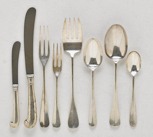 An American sterling silver part flatware service for twelve by The Steiff Company, Baltimore, MD; for Colonial Williamsburg, Inc., 20th century