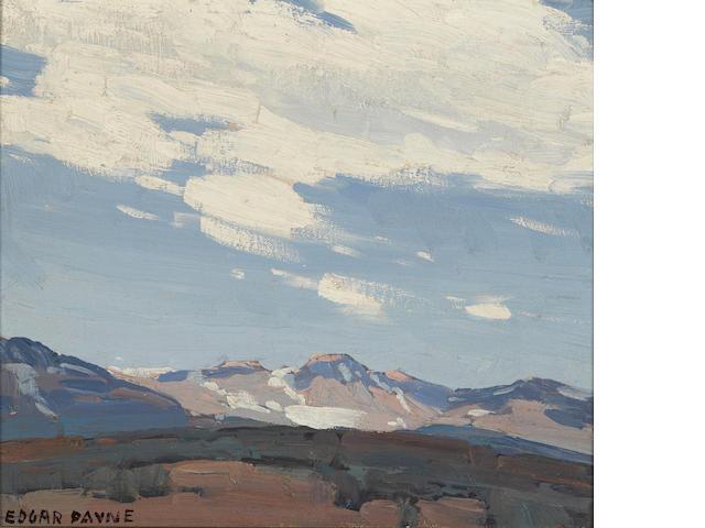 Edgar Payne (1883-1947) Sierra sky 10 3/4 x 12 1/4in