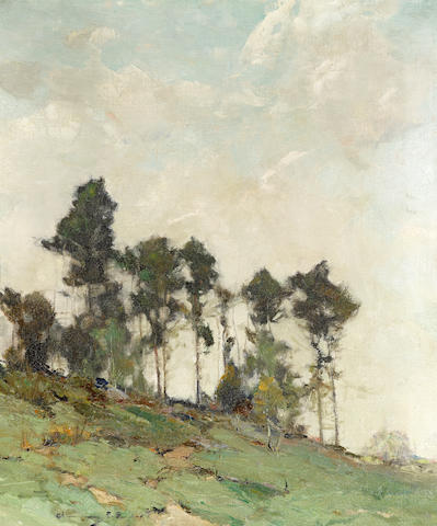 Chauncey Foster Ryder (American, 1868-1949) Hillside with trees 24 x 20in