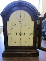 A George III brass mounted mahogany bracket clock  possibly made for the American market late 18th century