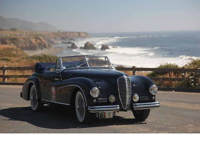<b>1950 Delahaye 135 M Cabriolet Atlas  </b><br />Chassis no. 801636 <br />Engine no. 801636