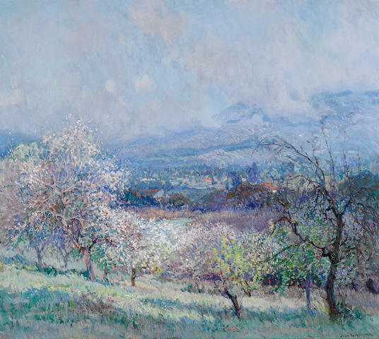 John Frost (American, 1890-1937) Spring, 1926 (Thought to be near Pasadena/La Cañada) 30 x 34in