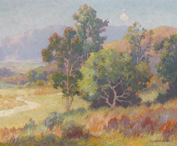 Maurice Braun (American, 1877-1941) Summertime, Southern California 20 x 24in