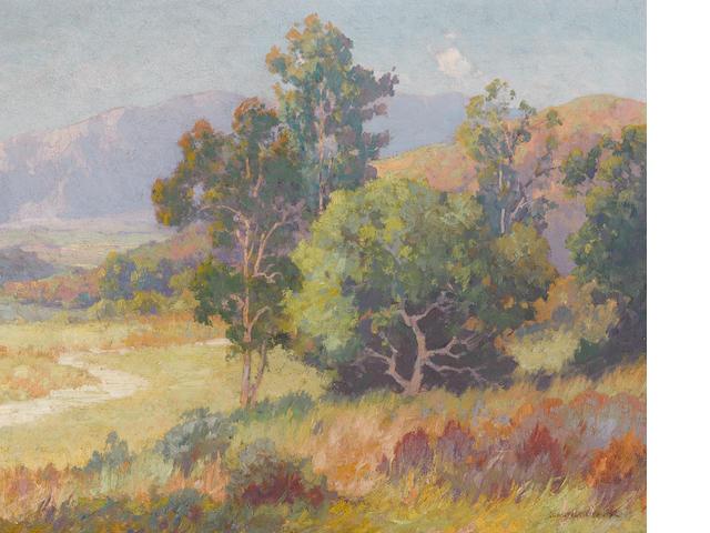Maurice Braun (American, 1877-1941) Summertime, Southern California 20 x 24in