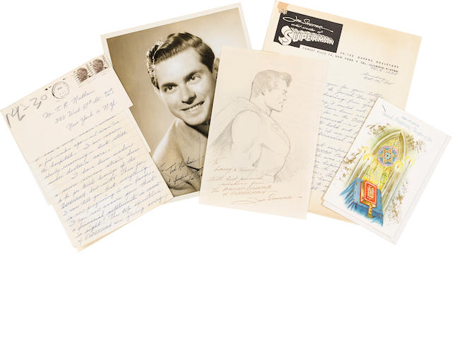 SHUSTER, JOE. 1914-1992. An archive of drawings and ephemera relating to Joe Shuster, co-creator of the DC comic book series Superman