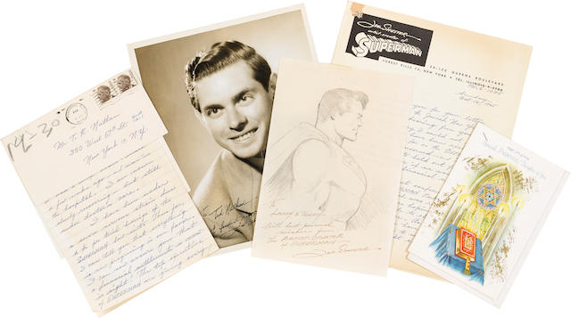 SHUSTER, JOE. 1914-1992. An archive of drawings and ephemera relating to Joe Shuster, co-creator of the DC comic book series Superman