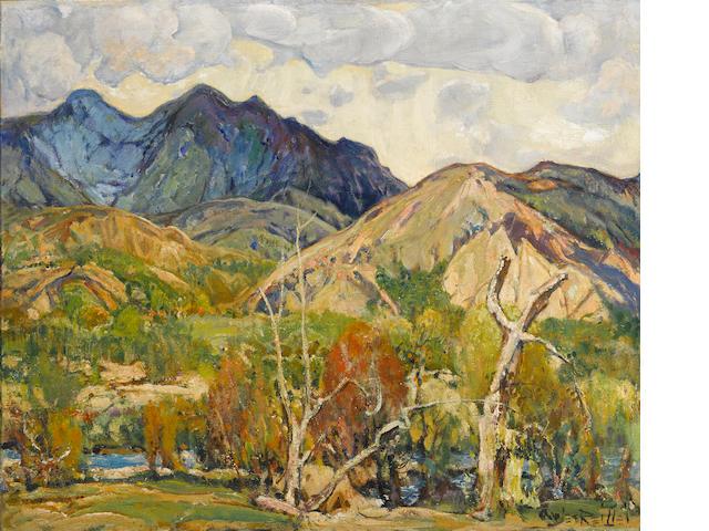 Charles Reiffel (American, 1862-1942) San Felipe Creek, 1937 28 1/4 x 34in