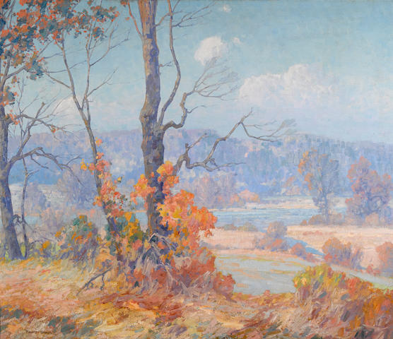 Maurice Braun (American, 1877-1941) Connecticut river 36 x 42in