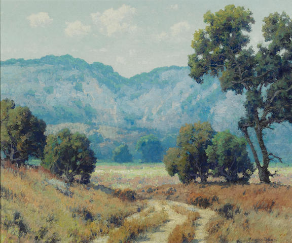 Maurice Braun (American, 1877-1941) Valley road 25 x 30in