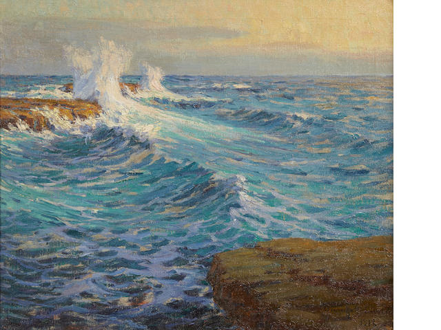 Granville Redmond (American, 1871-1935) The mighty deep, 1918 24 x 28in