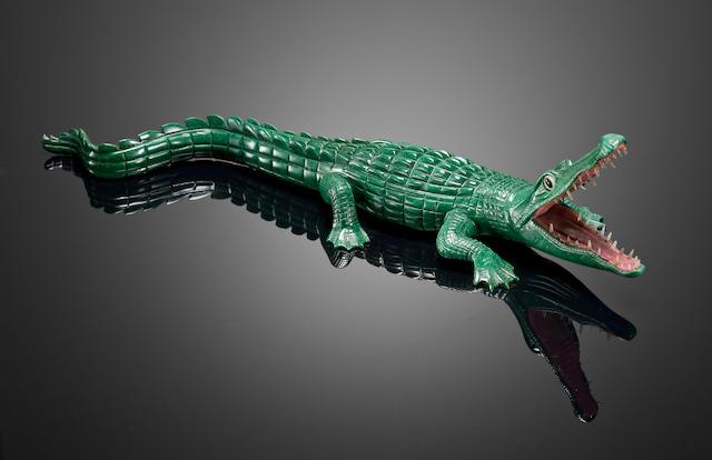 Verdite Carving of a Crocodile