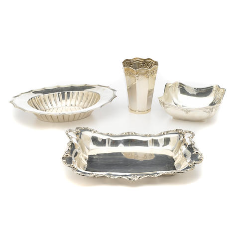 An assembled group of American sterling silver hollowware by various makers, 20th century