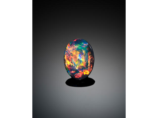 Fine Black Opal with Red Fire