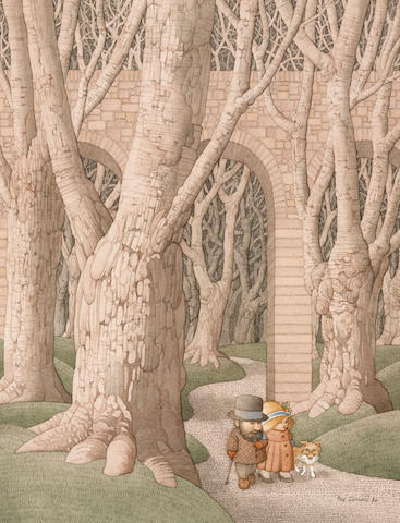 GERRARD, ROY. 1935-1997. Victorian Couple in the Woods,