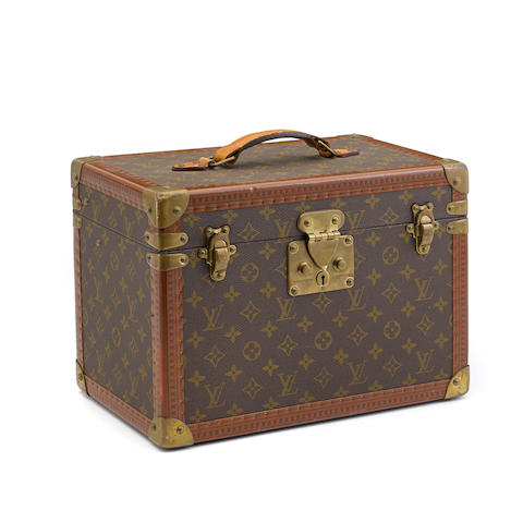 A Louis Vuitton monogram hard sided train case