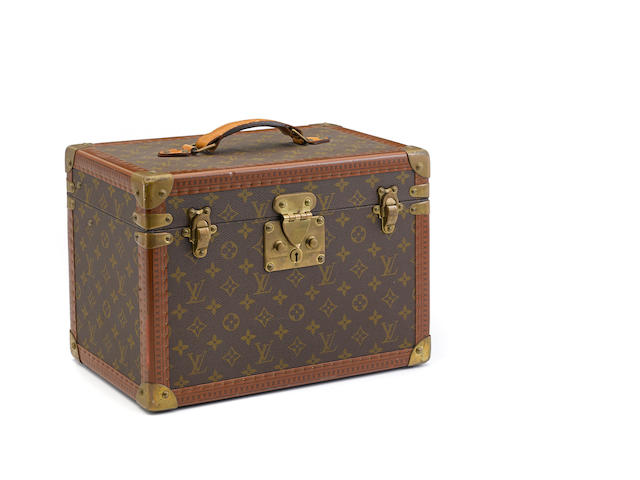 A Louis Vuitton monogram hard sided train case