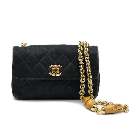 A Chanel navy blue quilted leather handbag