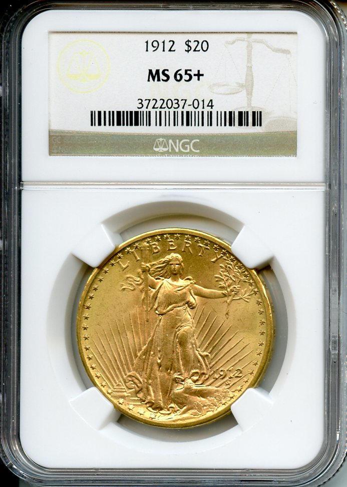 1912 $20 MS65+ NGC