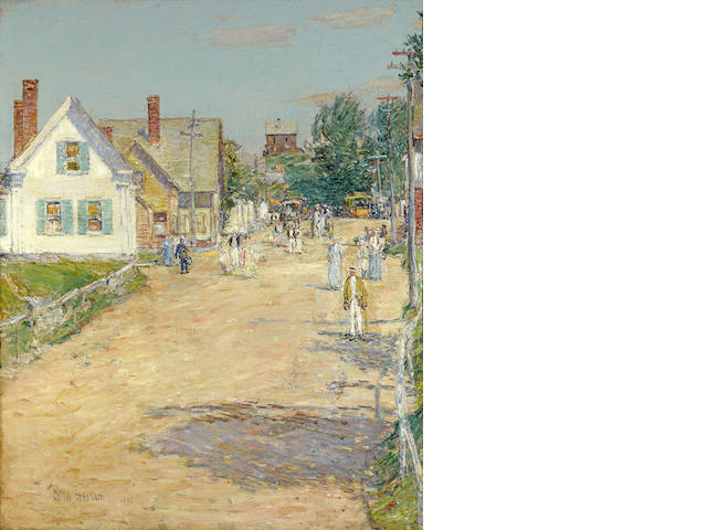 Childe Hassam (American, 1859-1935) East Gloucester, End of the Trolley Line 26 1/4 x 21 1/4in