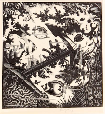Robert Gibbings (Irish, 1889-1958); The Lost Anchor;