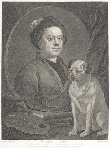 HOGARTH, WILLIAM. 1697-1764. The Works. London: for Baldwin, Cradock and Joy by J. Nichols and Son, 1822.