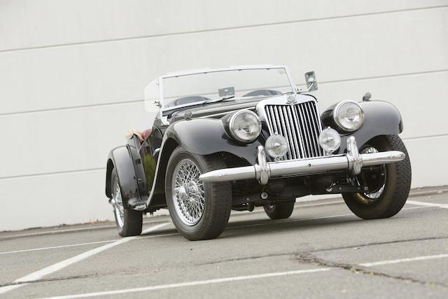 <b>1954 MG TF  </b><br />Chassis no. HDA46/1787 <br />Engine no. XPAG/TF/31731