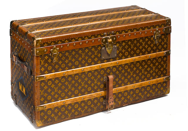 A Louis Vuitton monogram trunk