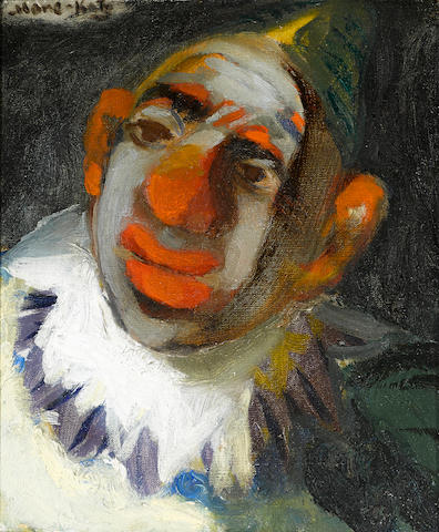 "EMMANUEL MANÉ-KATZ (Ukranian, 1894-1962) Portrait of a clown, c.1940 signed (""Mane-Katz""), framed"