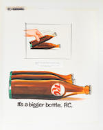 ADVERTISEMENT ART.  Archive of marketing artwork, c.1970, produced by the ad agency Wells Rich Greene,